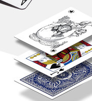 USA Aladdin Paper Marked Playing Cards Magic Invisible Cards for UV Contact Lenses Cheat in Casino Gambling Anti Poker Cheat