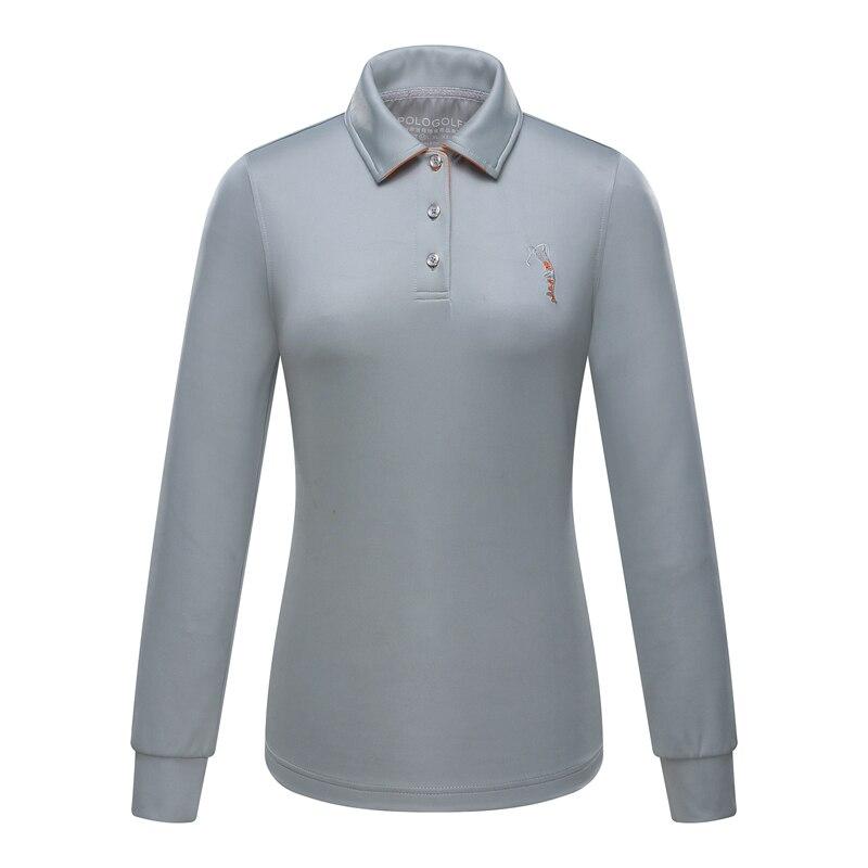 20ff200c9 العلامة التجارية بولو النساء أعلى قميص بولو عالية الجودة سيدة أحدث طويل كم  سيدة الغولف تي شيرت كي طوق قميص الملابس 2018 جديد