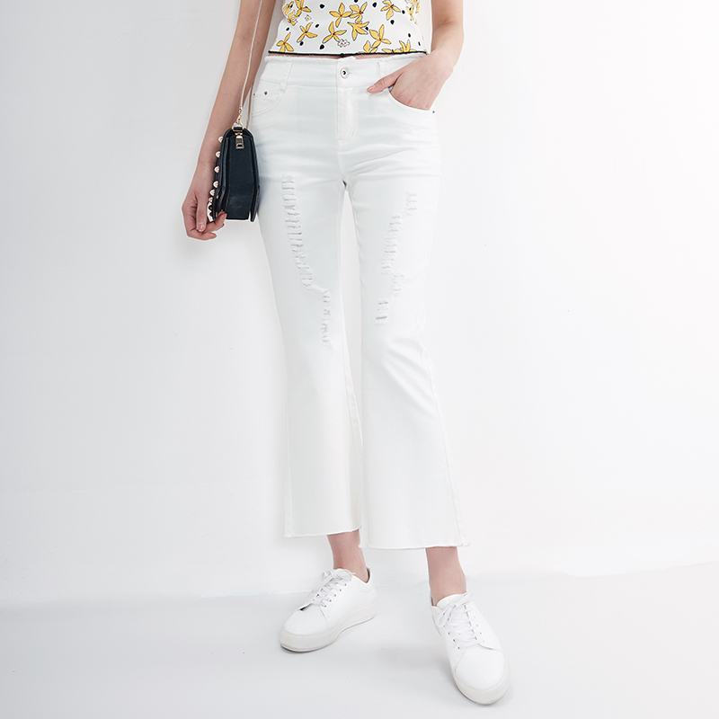 White Flare Jeans for Women Promotion-Shop for Promotional White ...