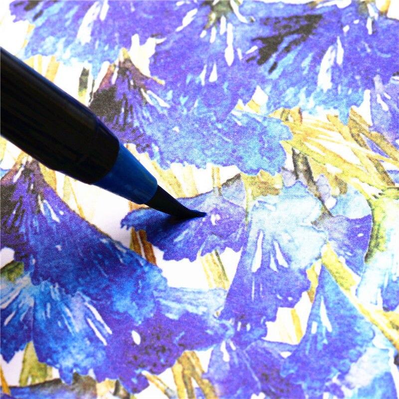 20 Warna Cat Air Lukisan Lembut Kuas Penanda Set Terbaik