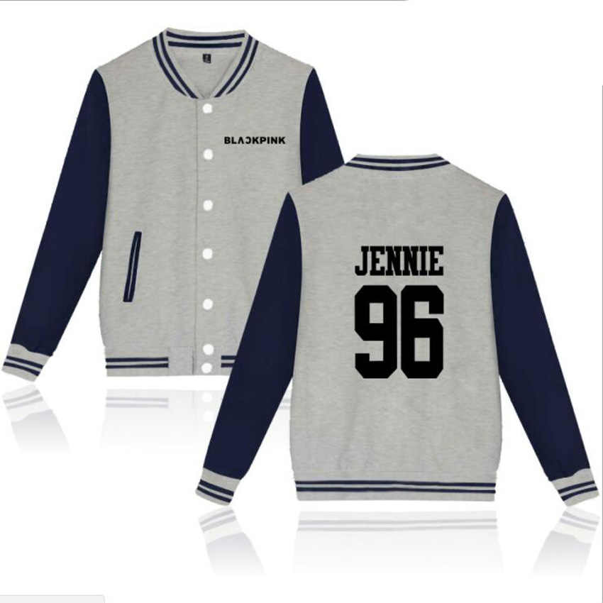 K POP KPOP K-POP Blackpink Album Vrouwen Hoodies Sweatshirts JISOO JENNIE ROSE LISA Lange Mouw Fleece Baseball Uniform jas Mannen