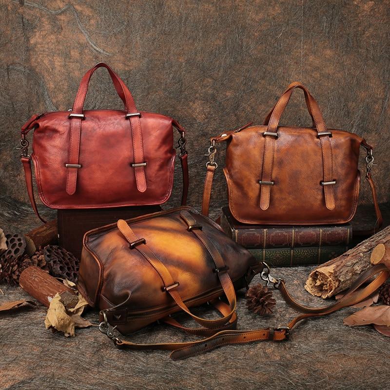 Корова кожа Для женщин сумки 2018 ручной работы из натуральной кожи сумка ранцы унисекс выходные Для мужчин сумки и кошельки