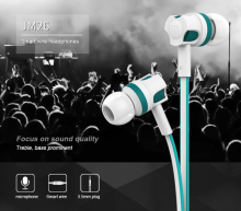 Langsdom wired in-ear Earphone JM26 for music gaming portable headset jm26 office stereo earbuds audifonos fones with microphone