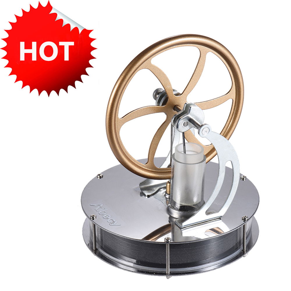Low Temperature Stirling Engine Motor Model Kit Creative DIY Engine Model Temperature Difference Engine Generator Experiment Toy diy low temperature stirling engine educational puzzle toy kit silver