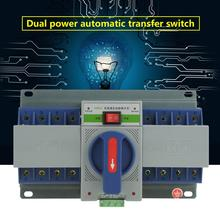 220V 63A 4P Transfer Switch Mini Dual Power Automatic Transfer Switch Circuit Breaker Energy Saving Transfer Switch 4p 160a ats dual power diesel generator parts electric control curcuit breaker single three phase ac automatic transfer switch