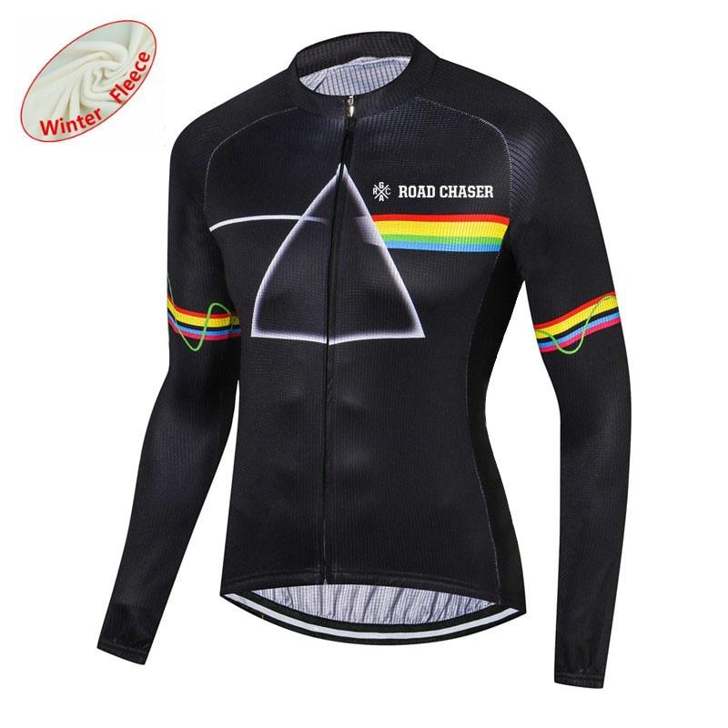Thermal Fleece mens team long sleeve cycling jersey cycling jerseys cycling top