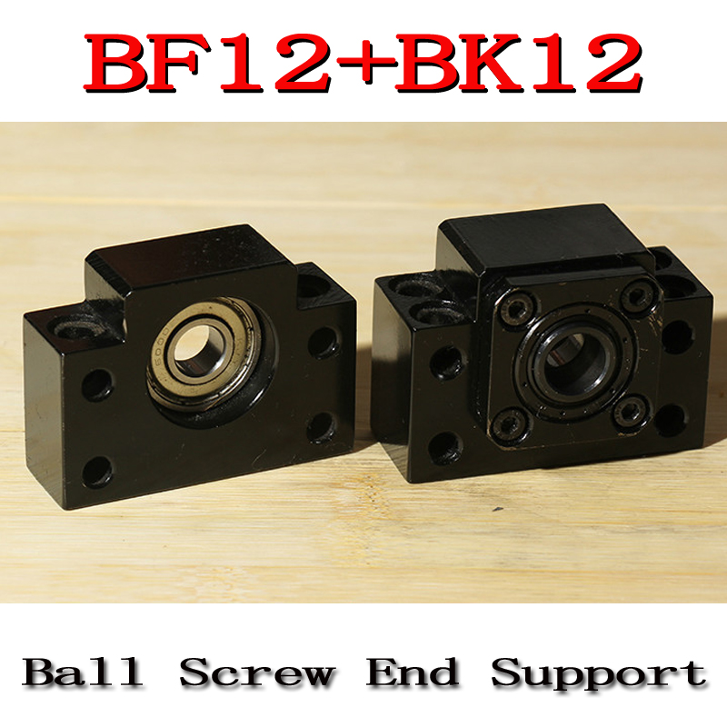 BK12 BF12 Set : 1 pc of BK12 and 1 pc BF12 for SFU1605 Ball Screw End Support CNC parts BK/BF12 микрофонная стойка quik lok a344 bk