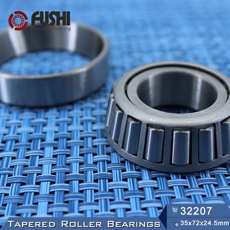 32207 Bearing 35*72*24.5 mm ( 1 PC ) Tapered Roller Bearings 32207 X 7507E Bearing free shipping 1 pc 30305 25x62x18 5 tapered roller bearing 25 62 18 5 qc