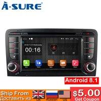 A уверен 2 Din 7 дюймов Автомобильный радиоприемник андроид 8,1 gps DVD 2019 Navi SWC WIFI BT для AUDI A3 (2003 2011) RS3 S3 8 P 8 V 8 PA RNSE PU