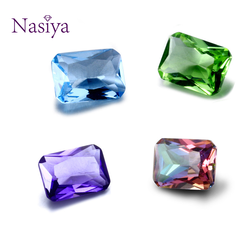NASIYA Crystal Spinel 10*14 MM Created Rectangle Stone Cubic Zircon Bijoux Loose Gemstones for Ring Jewelry DIY 10 PcsNASIYA Crystal Spinel 10*14 MM Created Rectangle Stone Cubic Zircon Bijoux Loose Gemstones for Ring Jewelry DIY 10 Pcs