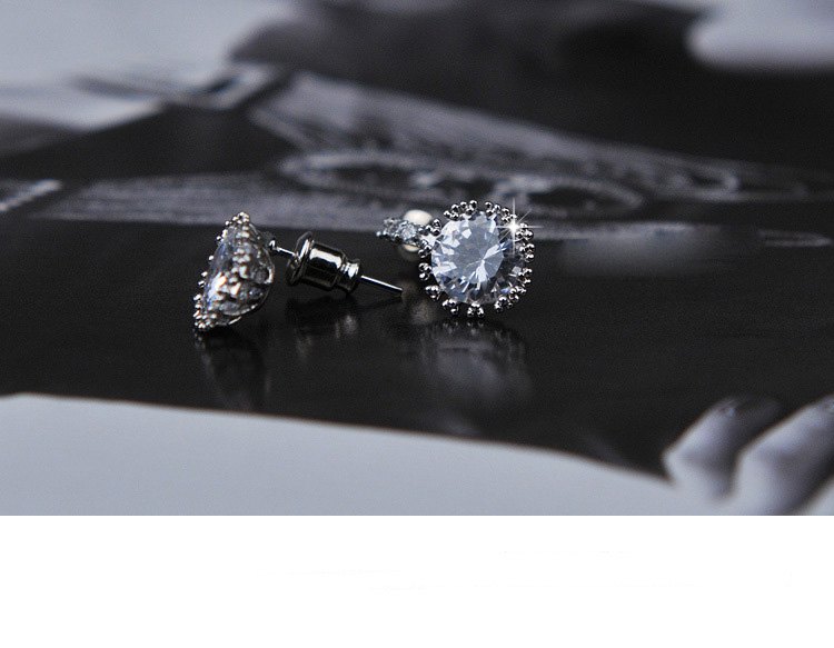 Jewelry & Accessories Stud Earrings Simple Women Men Studs Earrings Switzerland Block Cz Zircon Crystal Jewelry Wholesale Brincos Pequeno