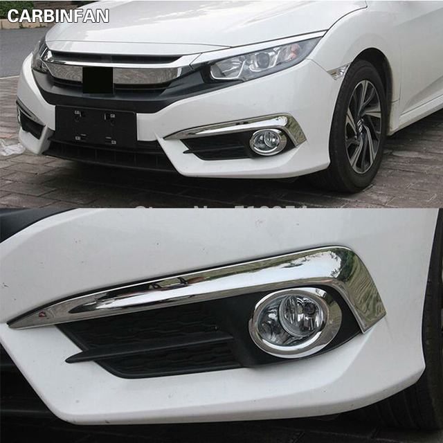 FIT FOR 2016 2017 HONDA CIVIC CHROME FRONT FOG LIGHT LAMP