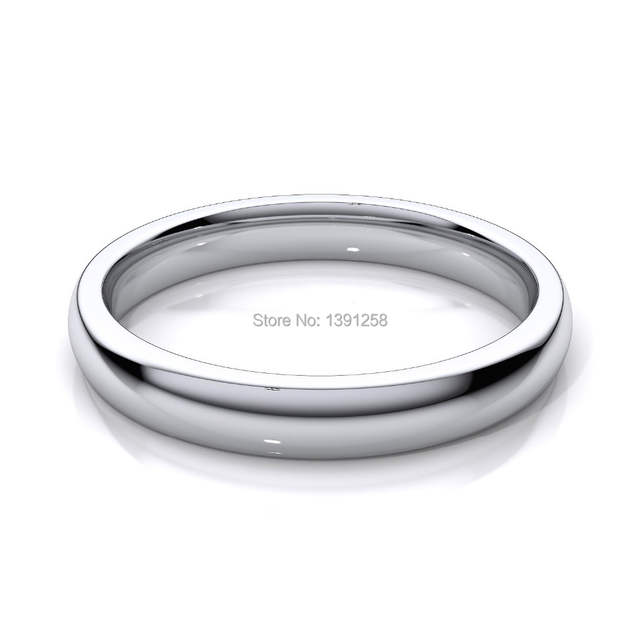 3mm Wedding Ring Rings For Women Comfort Fit Palladium Pd500 Pd950
