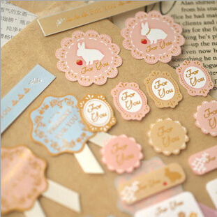 3pcs/lot / Sweet Lace Label Paper Sticker / Sealing Paste / Decoration Label Office & School Supplies