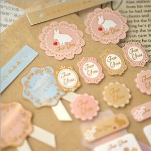 3pcs/lot / Sweet Lace Label Paper Sticker / Sealing Paste / Decoration Label Office & School Supplies