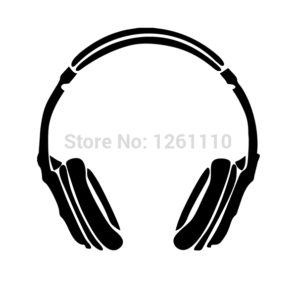Headphone Music DJ Wall Vinyl Decals Stickers For Truck