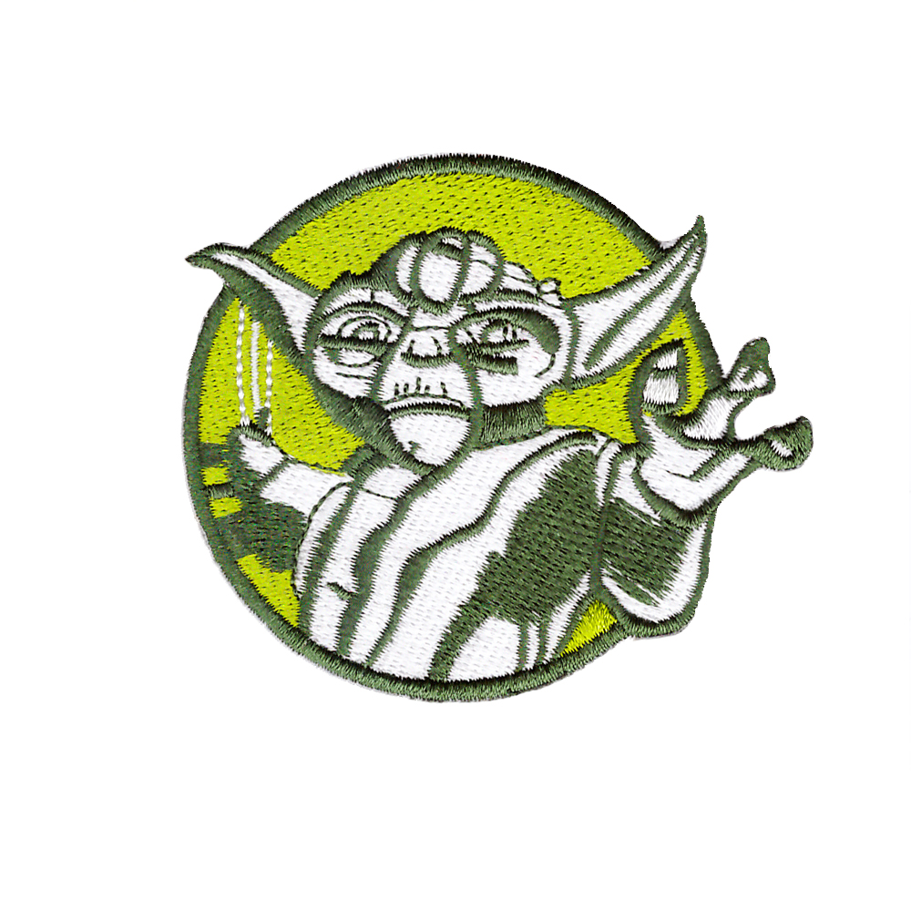10 PCS New arrive film Lightsaber Yoda Circle Badge Embroidered Iron On Patch Applique Monster Suitable for all kinds of clothes