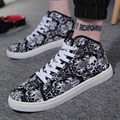 New 2016 England Casual Shoes Men Canvas Shoes Male Autumn And Winter High Top Canvas Shoes Fashion Hand Painted Students Shoes