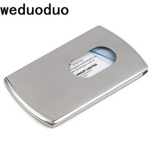 Weduoduo High Quality Stainless Steel Business Name Card Holder Cover Solid Metal Wallet Box Case