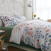 Американский Пастырское Стиль абстрактные листья Страна Цветочные Набор пододеяльников для пуховых одеял хлопок Постельное белье 4 частей