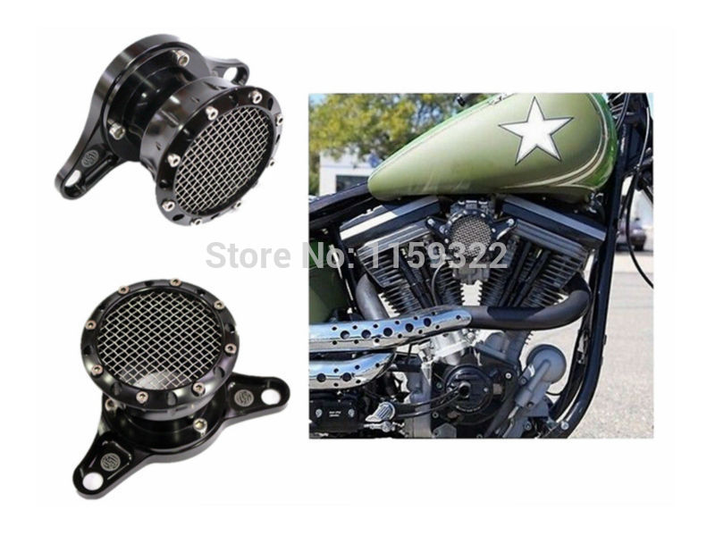 Motorcycle parts Black Velocity Stack Air Intake For Harley Davidson Sportster XL 883 1200 1991 - 2014 mtsooning timing cover and 1 derby cover for harley davidson xlh 883 sportster 1986 2004 xl 883 sportster custom 1998 2008 883l
