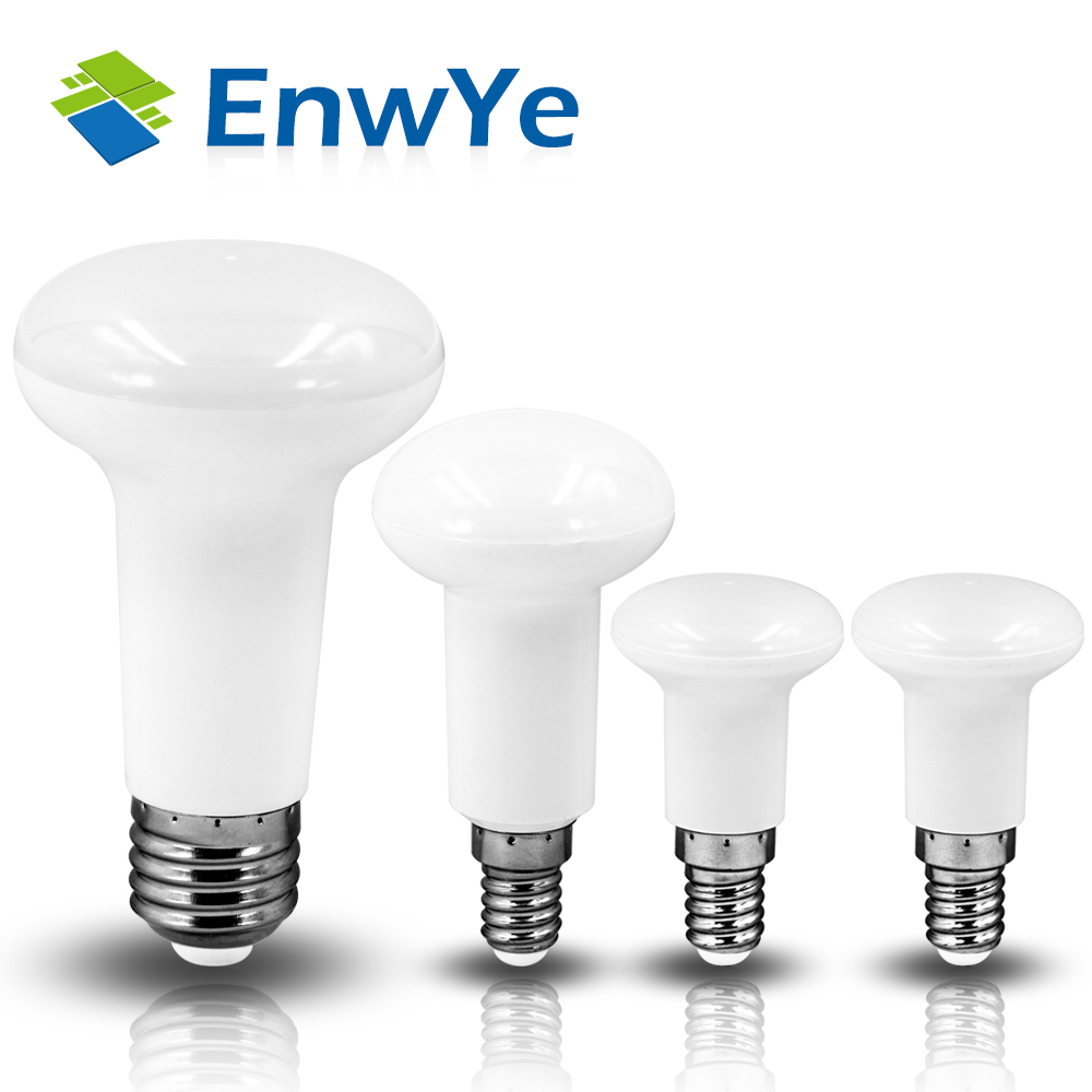 EnwYe R39 R50 R63 LED lamp E14 E27 Base LED BULB 4W 6W 9W 12W led umbrella bulb light Warm Cold white led light AC220V 230V 240V e27 umbrella bulb 24w 36w led bulb golden aluminum shell led lamp ac 110v 220v 240v led light smd5730 warm cold white light