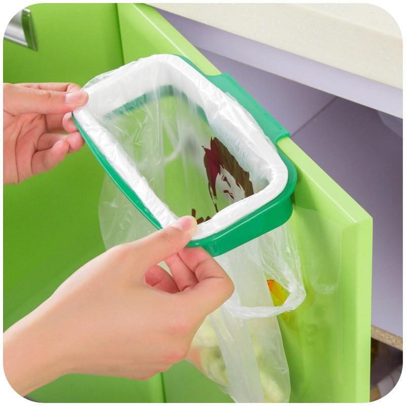 Aliexpress Com Buy Vanzlife Hanging Type Kitchen Door Back Cabinet Garbage Can Bracket Hanging Bag Storage Rack Environmental Protection Bag Rack From