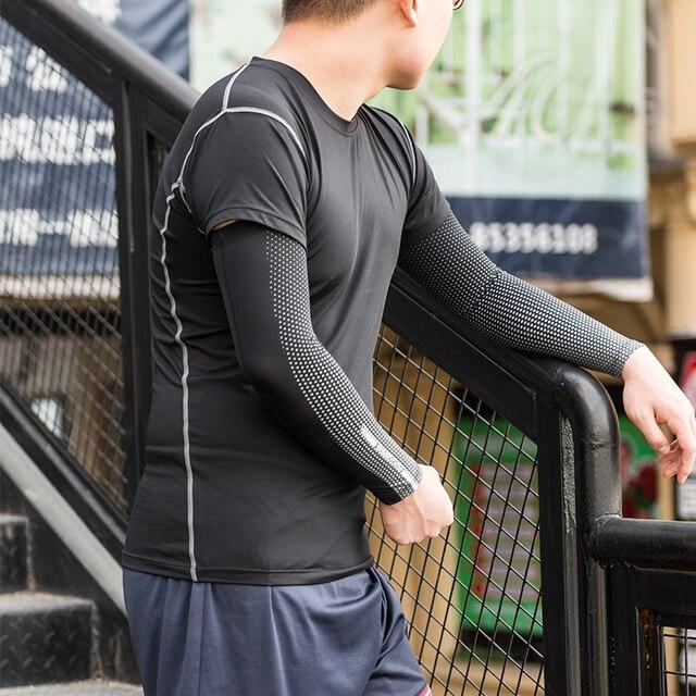 Rockbros suncreen acampamento braço manga ciclismo braço de basquete mangas mais quentes uv proteger esportes dos homens engrenagem segurança perna aquecedores capa 5