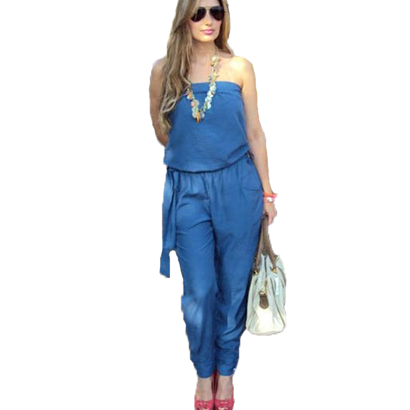Online Get Cheap Strapless Denim Jumpsuit -Aliexpress.com ...