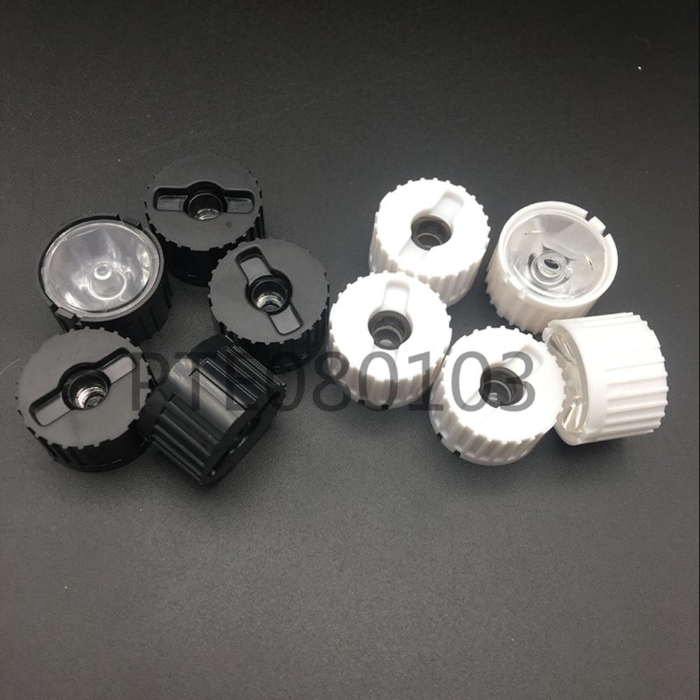 100x 20mm LED Lens 1W 3W 5W Stripe Optical Lenses With White/Black Lens Holder Angle 5 10 25 30 45 60 Degree For LED Bulbs DIY