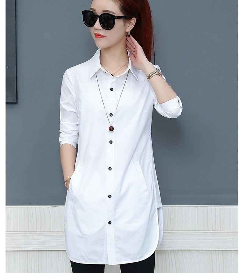 1dbb91495e6 Длинные Стиль Для женщин Демисезонный шифон блузки рубашки леди  Повседневное с длинным рукавом отложной воротник блузки