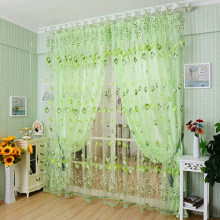 Tulip Flower Voile Curtain Drape Panel Room Sheer Home Door Window Decoration(China)