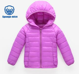 2017 sponge mice brand autumn and winter children's thin new warm cotton jacket  baby clothing 6pcs sponge