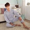 Fabricantes de Venda Quente Low-cost Homewear Outono dos homens de Manga Comprida de Algodão Pijama Terno