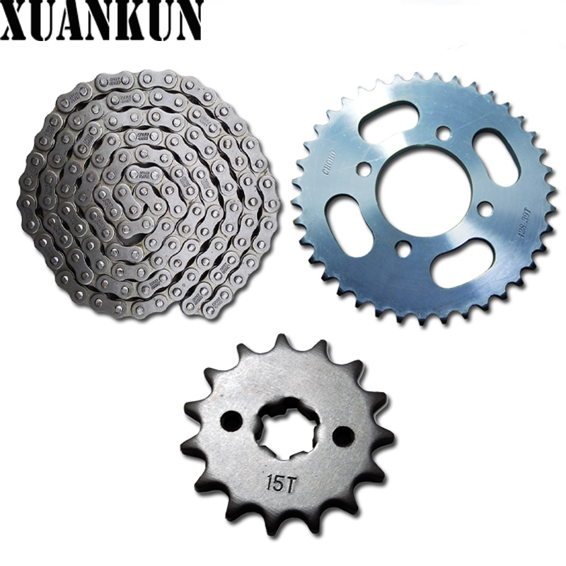 XUANKUN Motorcycle Parts Sleeve Chain CF125 3 Rear Sprocket Chain Drive Tooth Disk CFMOTO