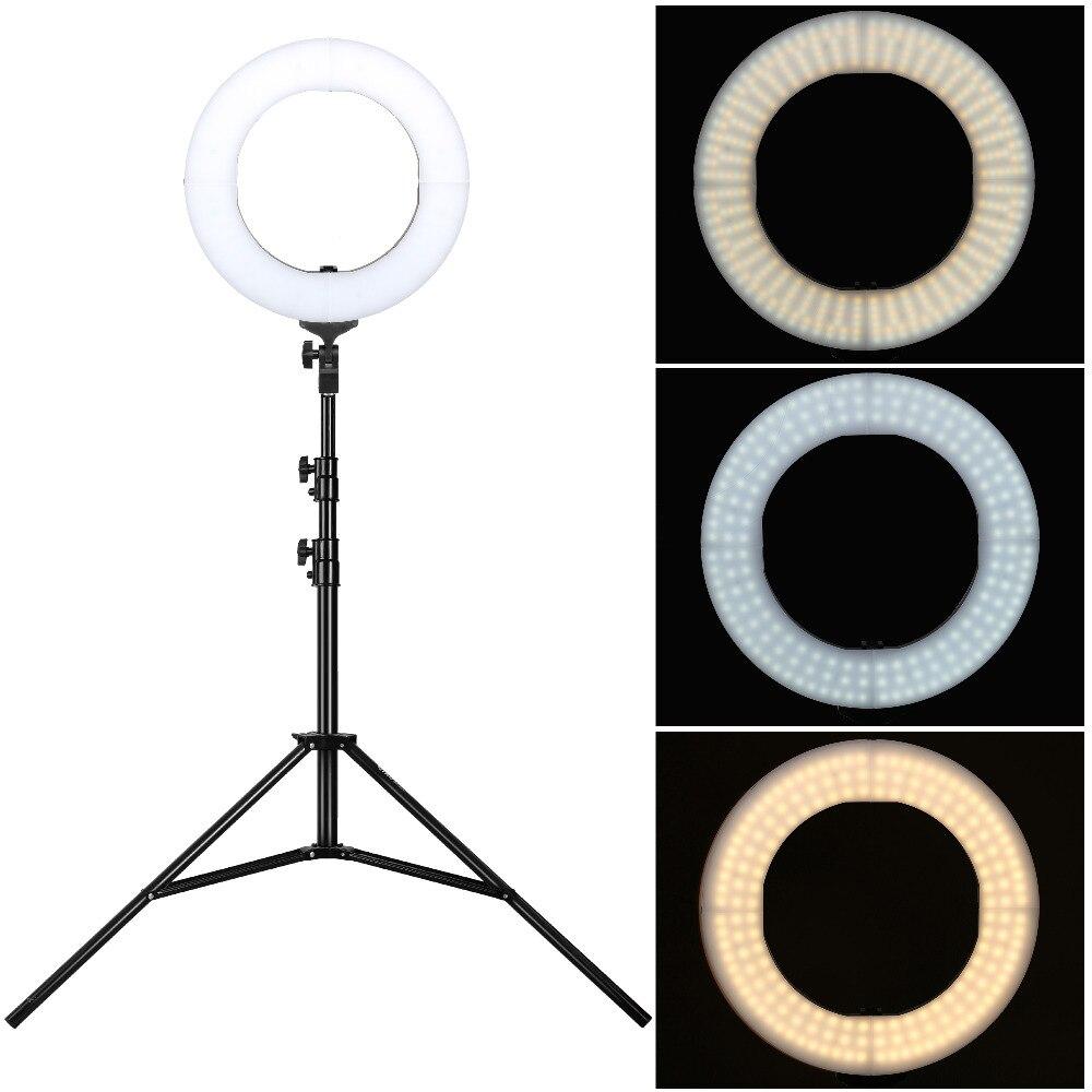 LED anneau lumière avec 2 M trépied lumière support 58 W lampe photographique pour Smartphone photographie Studio Selfie Photo vidéo accessoires