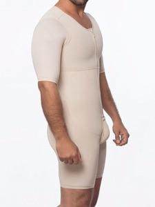 Image 5 - Waist Trainer Men Shapewear Open Crotch Front Zipper Sexy Bodysuit Butt Lifter Male Tummy Short Sleeve Big Size 6XL Dropshipping