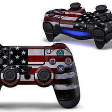 America flag PVC Custom Sticker Case Protector For Sony for PS4 Playstation 4 Dualshock Controller 0018