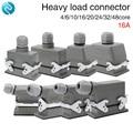Rechthoekige zware connector hdc-04/6/10/16/20/24/32/48 kern luchtvaart plug 16A Top lijnen en side lijnen