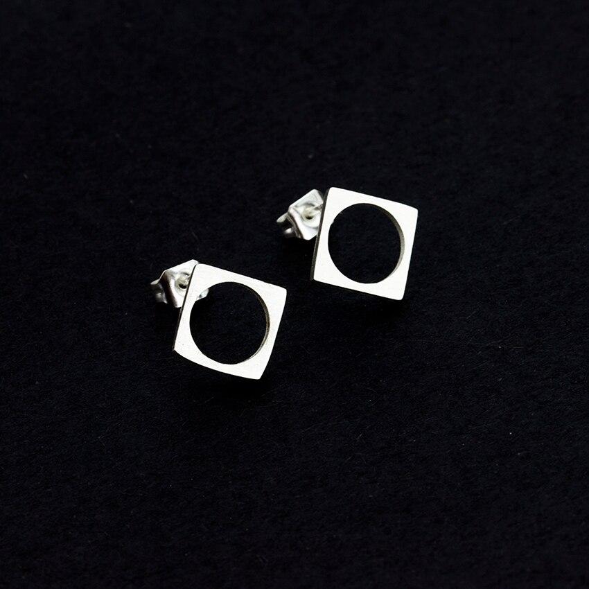 DIANSHANGKAITUOZHE Geometric Square Circle Hollow Earings Men Women Steampunk Jewelry Pendientes Mujer China Factory Price
