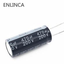 2 قطعة/الوحدة 200v 470 فائق التوهج 200v 470 فائق التوهج الألومنيوم مُكثَّف كهربائيًا حجم 18*40 20%