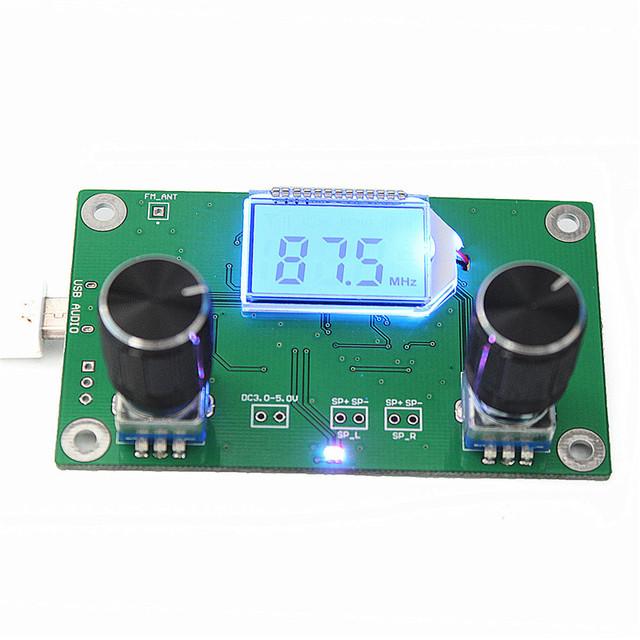 Hohe Qualität DSP PLL Digital Stereo Fm-radio-empfänger-modul 87-108 MHz Mit Serieller Ansteuerung Frequenzbereich 50 Hz-18 KHz