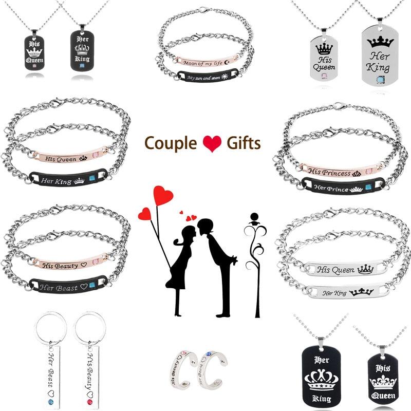 bracelet couple prince princesse
