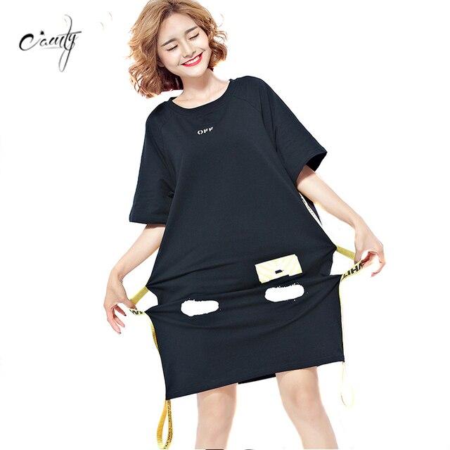 7ce003be6a7a CAMTY 2017 Summer Women's Shirt Dress European Street Style Fashion Black  Sashes Tunic Women's Plus Size