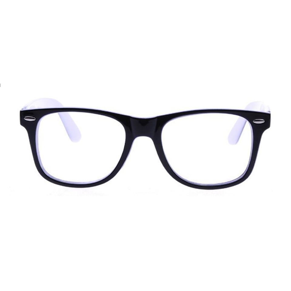 Elitera moda cristal grande marco sin lentes ojo gafas marco para ...