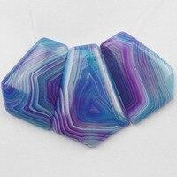 (Min.order 10$ mix) Free shipping 3Pcs Beautiful Onyx Stone Pendant Bead Set M0089803