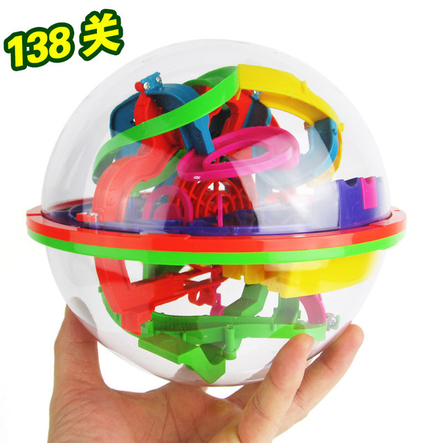 New 3D Puzzle Ball Maze Ball 138 Barriers Space Intellect Game Stages Kids boy girl Toy Gift Z13