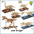 Mr.Froger LOZ Jurassic dinosaur skeletons fossil Building Blocks Small particles DIY toy brick gifts creative Toys Animal skull