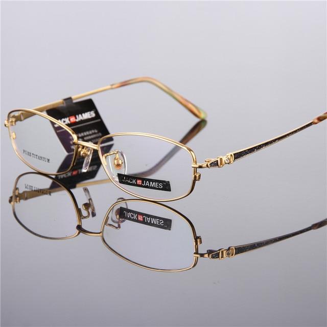 e4542de5f67 Prescription glasses pure titanium frame full myopia eye glasses frames for  women metal glasses 8299