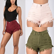 BBYES 2017 Summer Womens Tassel Shorts Ripped Elastic High Waist Denim Shorts Sexy Hose Jeans Lady Casual Shorts Feminino Jeans наталья котятова спорт
